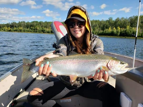 fishing for rainbow trout