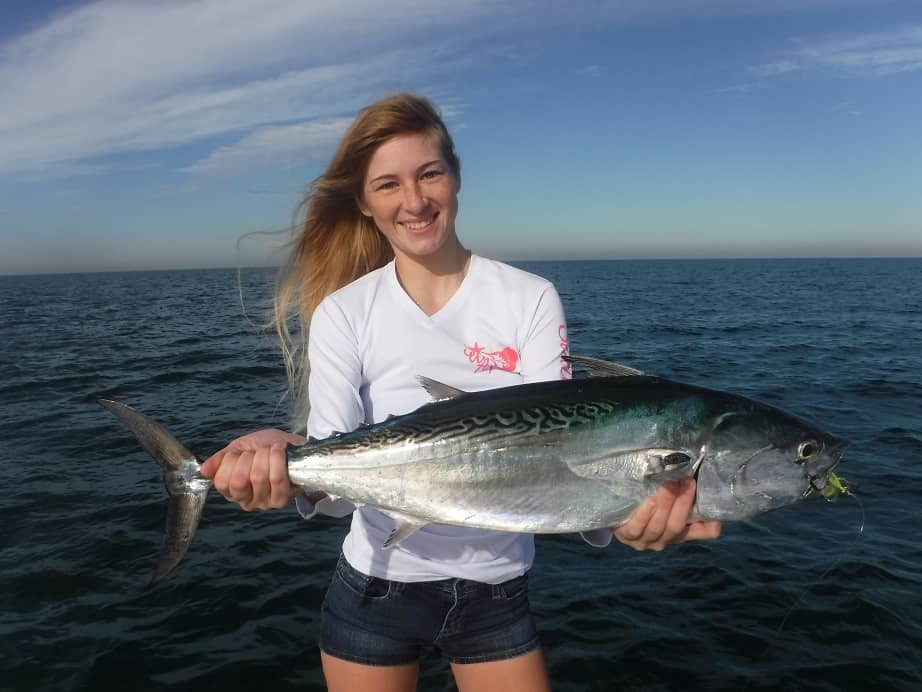 fly fishing for false albacore