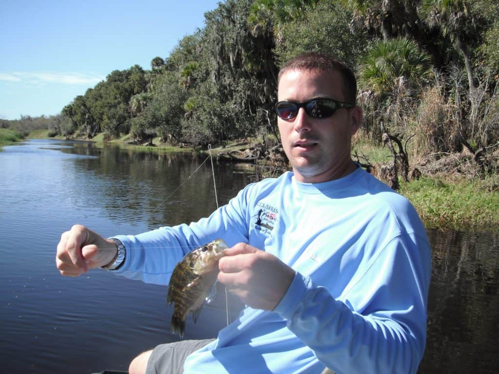 bluegill and panfish on fly