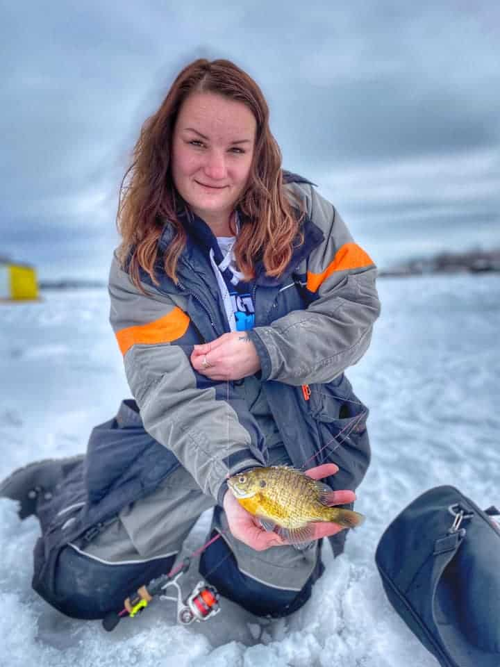 ice fishing with live bait