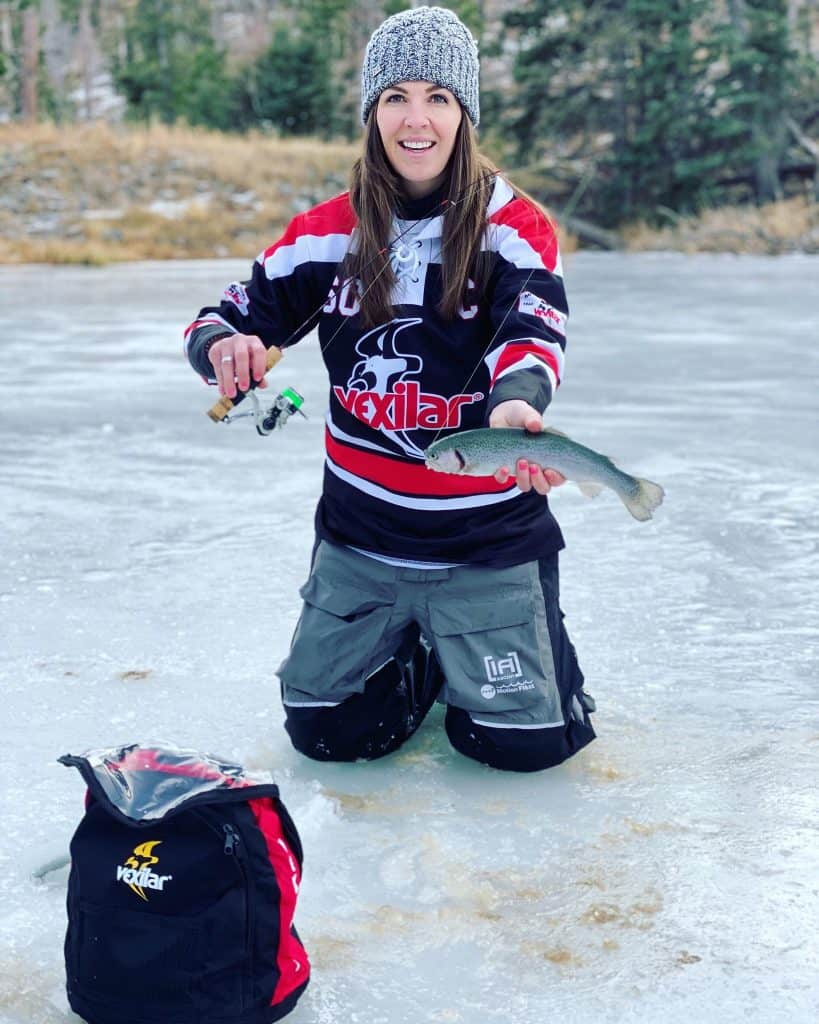 rainbow trout ice fishing