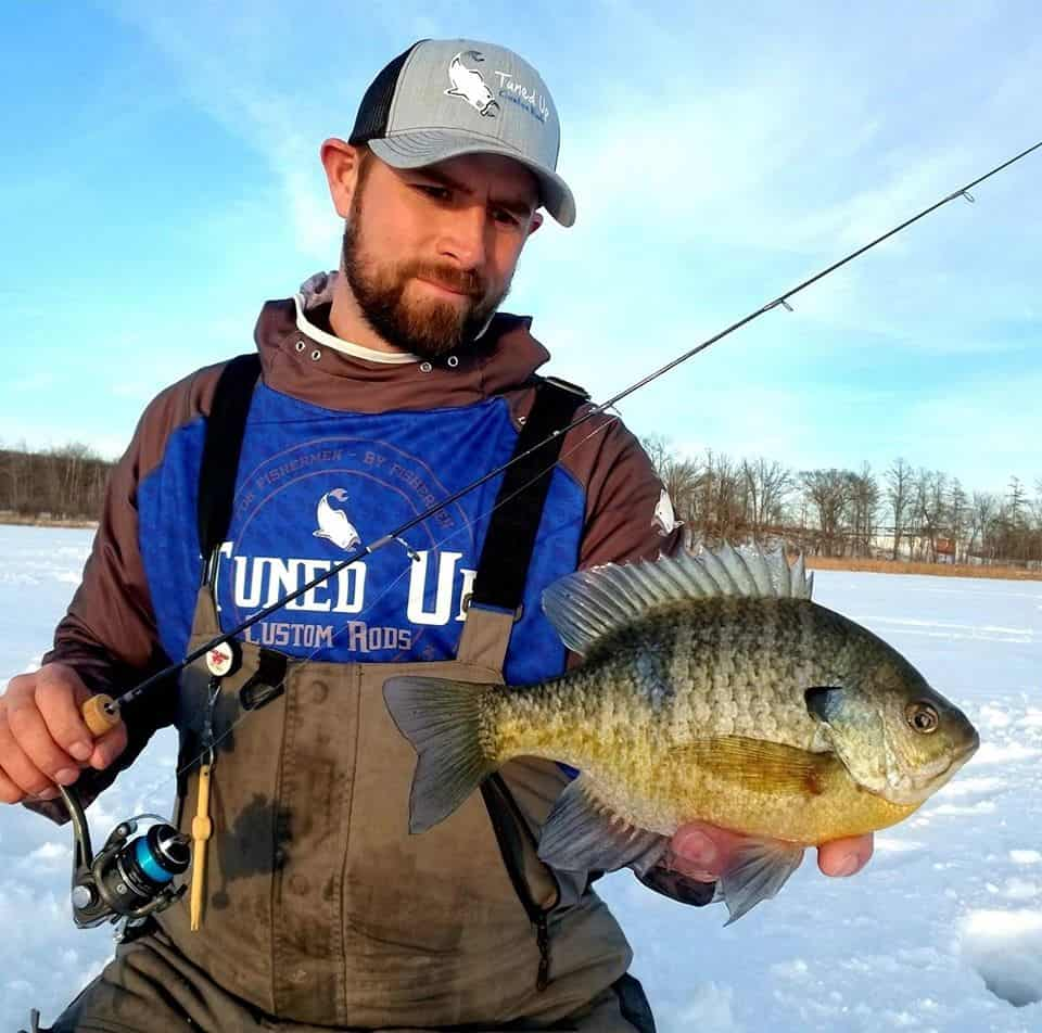 ice fishing for bluegill and panfish