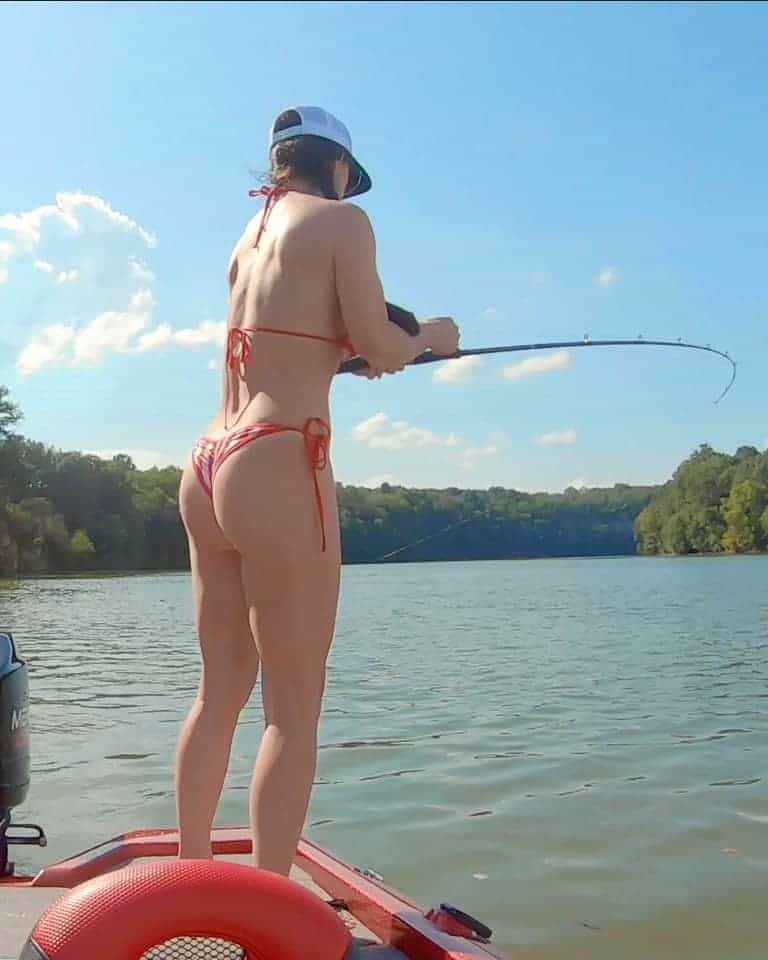 fishing in a Bikini