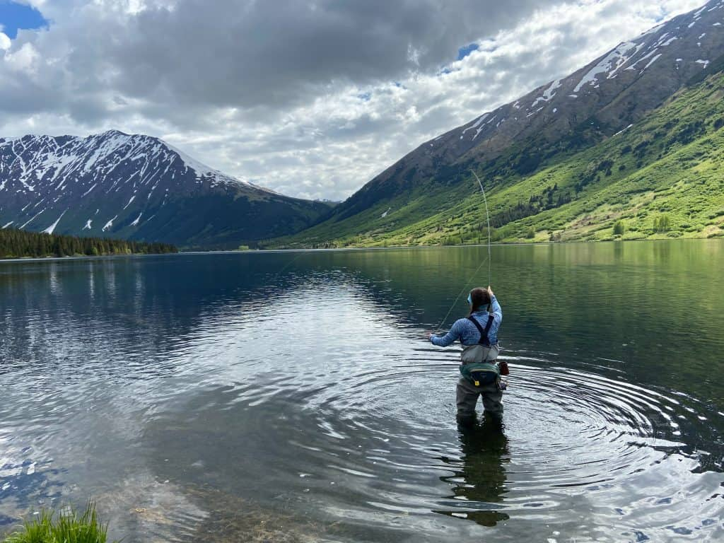 fly fishing in lakes