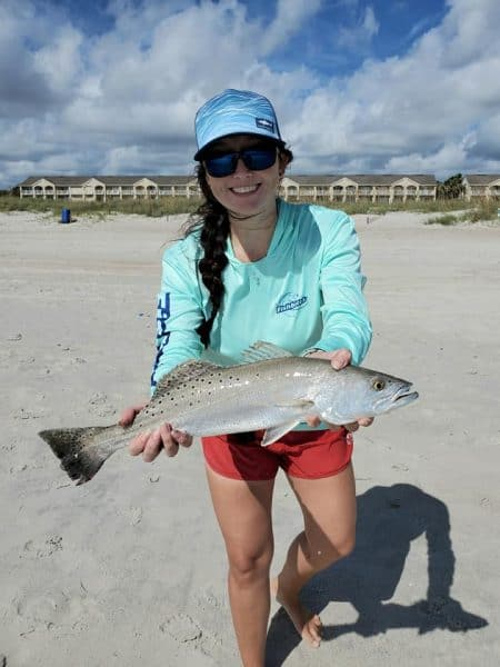 surf fishing for speckled trout