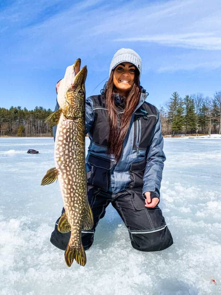 ice fishing for northern pike